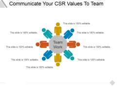 Communicate Your Csr Values To Team Ppt PowerPoint Presentation Layouts Infographics