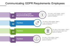 Communicating GDPR Requirements Employees Ppt PowerPoint Presentation Summary Outfit Cpb