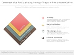 Communication And Marketing Strategy Template Presentation Outline