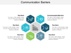 Communication Barriers Ppt PowerPoint Presentation Outline Samples Cpb