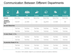 Communication Between Different Departments Ppt PowerPoint Presentation Infographics Clipart