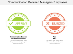 Communication Between Managers Employees Ppt PowerPoint Presentation Outline Visual Aids Cpb