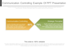 Communication Controlling Example Of Ppt Presentation