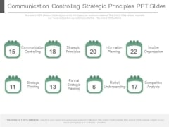 Communication Controlling Strategic Principles Ppt Slides