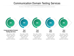 Communication Domain Testing Services Ppt PowerPoint Presentation Infographics Picture Cpb Pdf