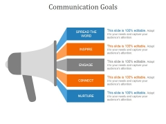 Communication Goals Template 1 Ppt PowerPoint Presentation Diagrams