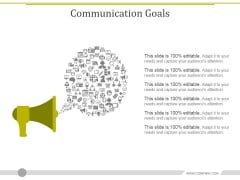 Communication Goals Template 2 Ppt PowerPoint Presentation Layouts Icons