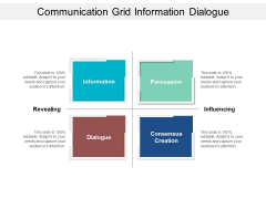 Communication Grid Information Dialogue Ppt Powerpoint Presentation Pictures Format Ideas