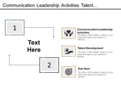 Communication Leadership Activities Talent Development Ppt PowerPoint Presentation Summary Templates