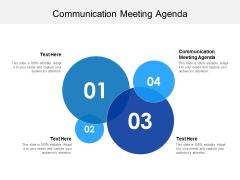Communication Meeting Agenda Ppt PowerPoint Presentation Professional Good Cpb