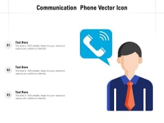 Communication Phone Vector Icon Ppt Ideas Templates PDF