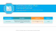 Communication Plan General Format Hacking Prevention Awareness Training For IT Security Download PDF