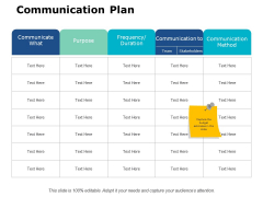 Communication Plan Ppt PowerPoint Presentation File Guide