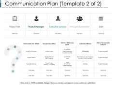 Communication Plan Ppt PowerPoint Presentation File Information