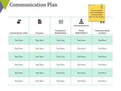 Communication Plan Ppt PowerPoint Presentation Icon File Formats
