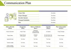 Communication Plan Ppt PowerPoint Presentation Ideas Deck