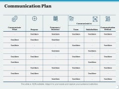 Communication Plan Ppt PowerPoint Presentation Infographics Examples
