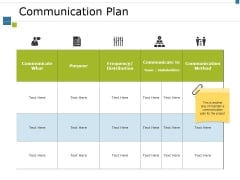 Communication Plan Ppt PowerPoint Presentation Infographics Good