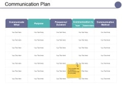 Communication Plan Ppt PowerPoint Presentation Inspiration Pictures