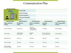 Communication Plan Ppt PowerPoint Presentation Layouts Pictures