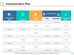 Communication Plan Ppt PowerPoint Presentation Model Diagrams