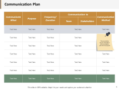 Communication Plan Ppt PowerPoint Presentation Model Example Introduction
