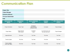 Communication Plan Ppt PowerPoint Presentation Model Icon
