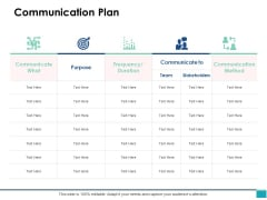 Communication Plan Ppt PowerPoint Presentation Portfolio Model