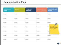 Communication Plan Ppt PowerPoint Presentation Show Background Image
