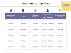 Communication Plan Ppt PowerPoint Presentation Styles Brochure