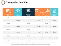 Communication Plan Ppt PowerPoint Presentation Styles Slides