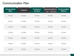 Communication Plan Purpose Ppt PowerPoint Presentation Outline Ideas