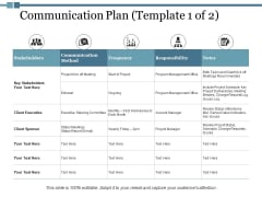 Communication Plan Responsibility Ppt PowerPoint Presentation Layouts Templates