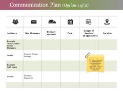 Communication Plan Template 1 Ppt PowerPoint Presentation Portfolio Templates