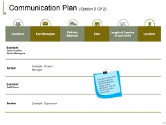 Communication Plan Template 2 Ppt PowerPoint Presentation Show Example Introduction
