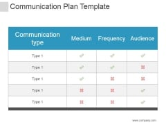 Communication Plan Template Ppt PowerPoint Presentation Layouts