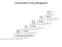 Communication Privacy Management Ppt PowerPoint Presentation Gallery Background Cpb Pdf
