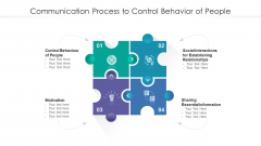 Communication Process To Control Behavior Of People Ppt Show Designs Download PDF