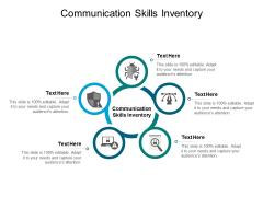 Communication Skills Inventory Ppt PowerPoint Presentation Icon Summary Cpb Pdf