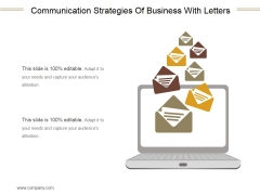 Communication Strategies Of Business With Letters Ppt PowerPoint Presentation Templates