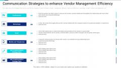 Communication Strategies To Enhance Vendor Management Efficiency Template PDF