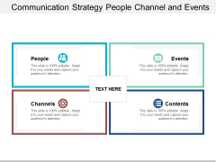 Communication Strategy People Channel And Events Ppt Powerpoint Presentation Gallery Slide Download