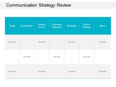 Communication Strategy Review Ppt Powerpoint Presentation Slide