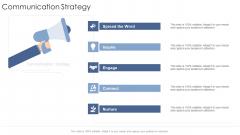 Communication Strategy Startup Business Strategy Ppt Layouts Influencers PDF