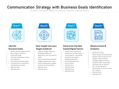 Communication Strategy With Business Goals Identification Ppt PowerPoint Presentation File Graphic Images PDF