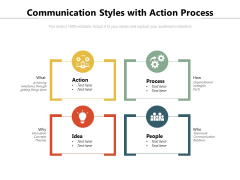 Communication Styles With Action Process Ppt PowerPoint Presentation Icon Professional PDF