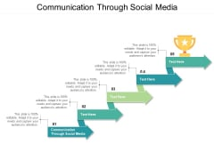 Communication Through Social Media Ppt PowerPoint Presentation Examples Cpb