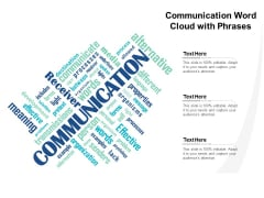 Communication Word Cloud With Phrases Ppt Powerpoint Presentation Infographics Elements