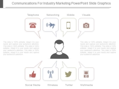 Communications For Industry Marketing Powerpoint Slide Graphics