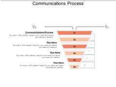 Communications Process Ppt PowerPoint Presentation Infographics Graphics Tutorials Cpb
